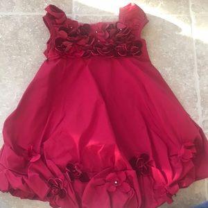 Red holiday girls Biscotti dress size 2